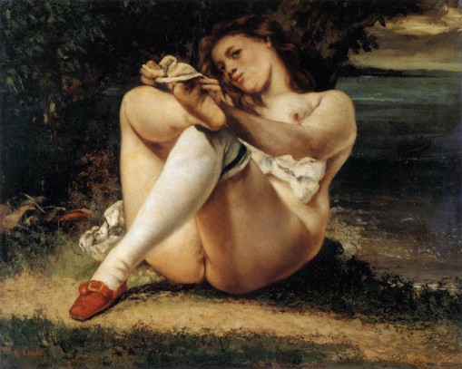 Courbet,_Gustave_-_Woman_with_White_Stockings_-_c._1861