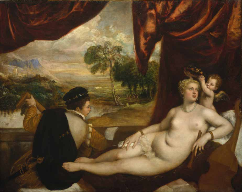 Erotika v umeni, Tizian - Venuse a hrac na loutnu