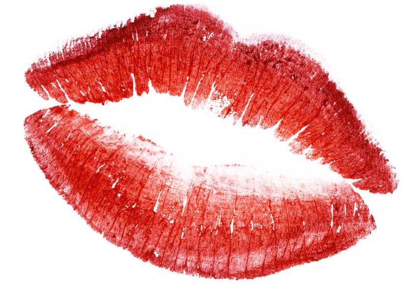 red lips isolated in white, rudé rty, krása ženy