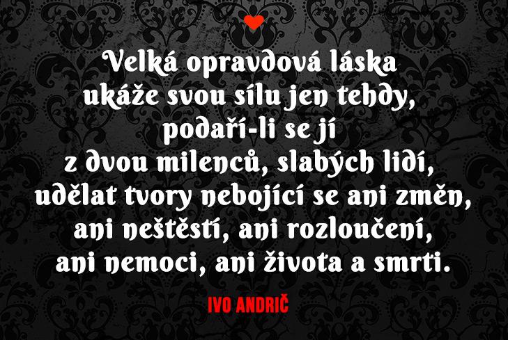 Ivo Andrič - citáty o lásce